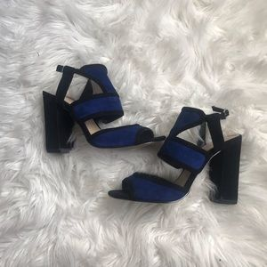 Saks fifth avenue block heel sandals